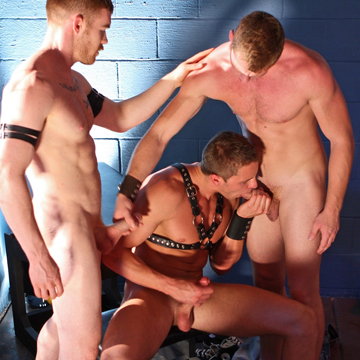 Gay Dungeon Muscle Orgy