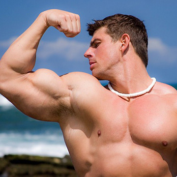 Hot muscle hunk in Hawaii