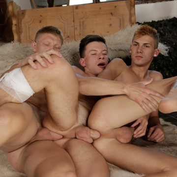Raw Gay Jock Threesome