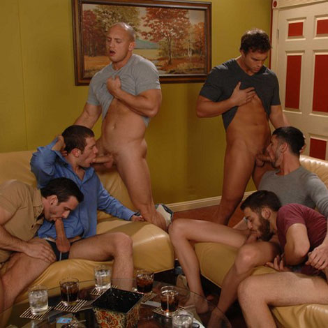 Six man orgy