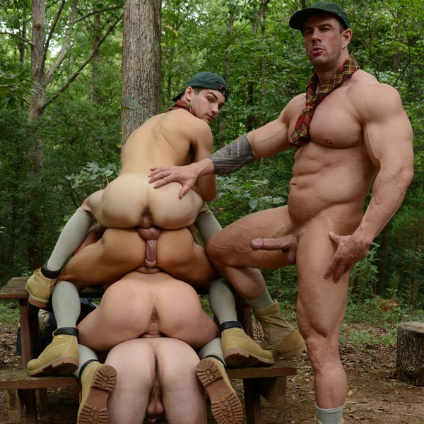 Scouts orgy in the woods