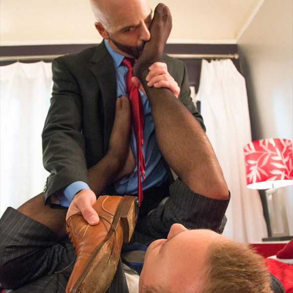 Suited Hunks Foot Worship