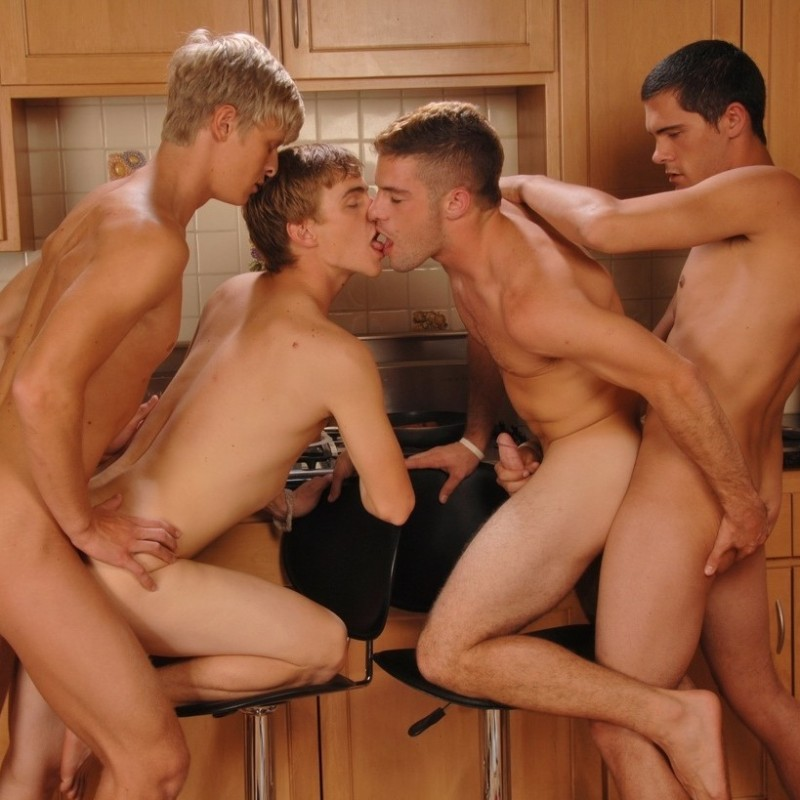 Four Twinks Fuckfest