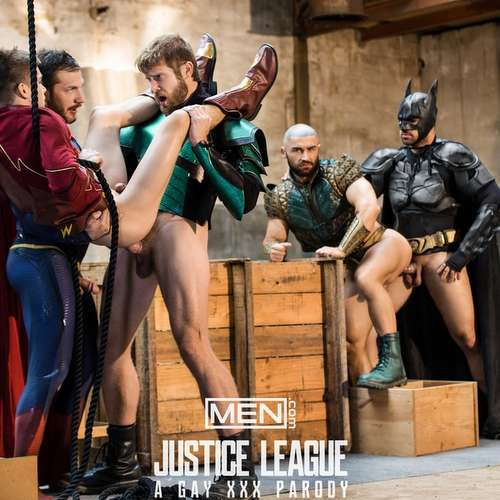 5 Gay Superheroes in Orgy