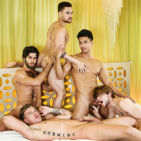 Hot orgy with 5 guys