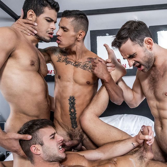 Cum filled foursome action